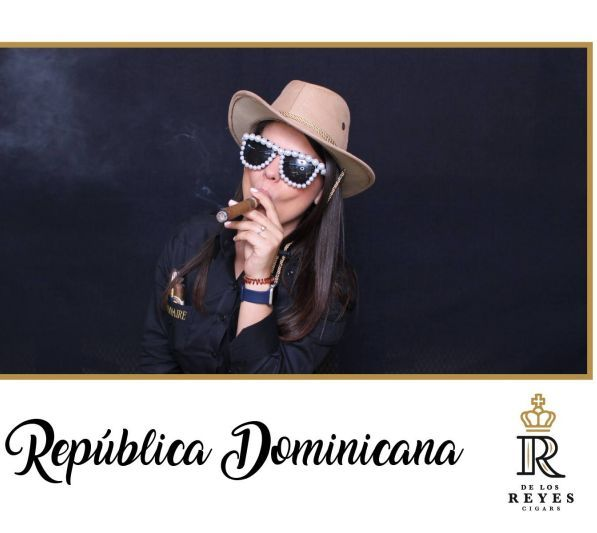 Reyes Cigars photo booth dominican