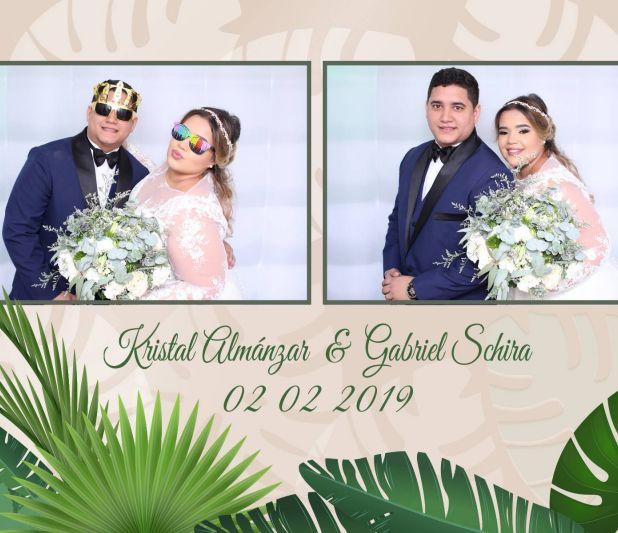 dominican booth boda Kristal & Gabriel