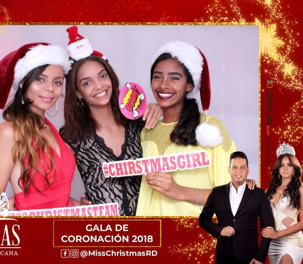 miss christmas republica dominicana photo booth